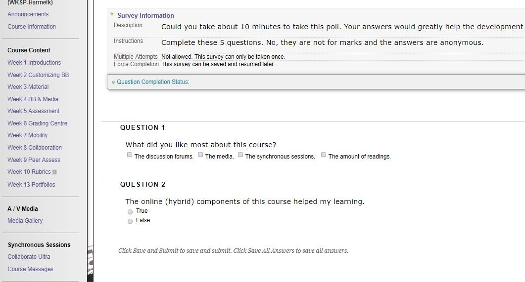 Assessment option